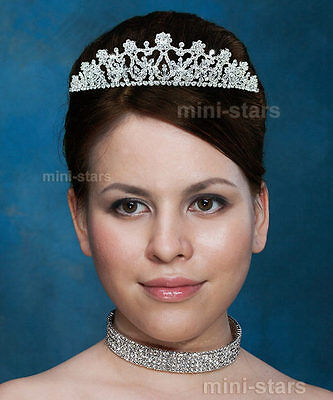 Bridal Wedding Pageant Tiara Prom Accessories use Austrian Crystal AT1381