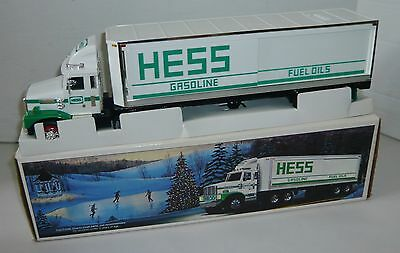 1987 Battery Operated Hess Toy Truck Bank Amerada Nmib
