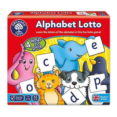 NEW Orchard Toys Alphabet Lotto