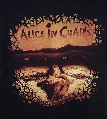 Alice in Chains Dirt T Shirt SIZE LARGE Cotton Anvil Brand