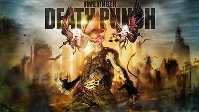 "024 FIVE FINGER DEATH PUNCH - Ivan Moody Metal Rock Band 24""x14"" Poster"