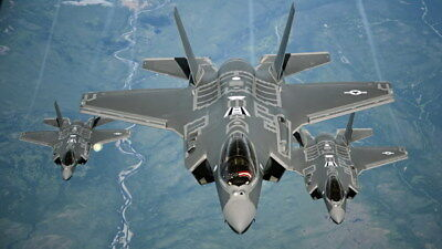 "002 F-35 - Lightning II Joint Strike Fighter 24""x14"" Poster"