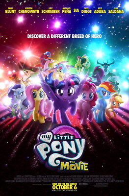 "001 My Little Pony The Movie - Adventure Comedy 2017 USA Movie 14""x21"" Poster"
