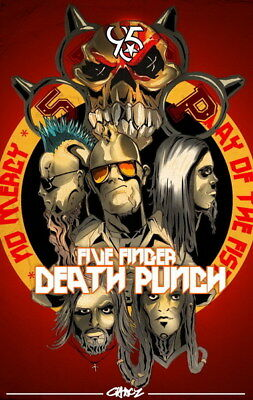 "008 FIVE FINGER DEATH PUNCH - Ivan Moody Metal Rock Band 14""x22"" Poster"