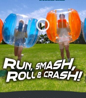 BRAND NEW 2 x Inflatable Bumper Body Ball Bubble Soccer Ball Party pool ~L/CRAZE