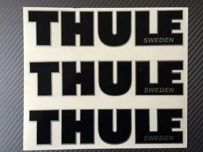 Thule decal, sticker, Thule emblem Black color for repairing, or other use