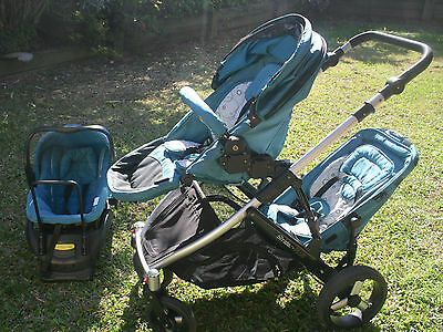 Strider Plus 4 Double Pram Travel System With Car Seat Pickup Brisbane