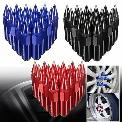 20 Pcs Aluminum M12x1.5 Wheels Rims Lug Nuts Spiked Extended Tuner 60mm 3 Colors