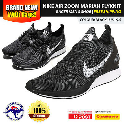 New Sealed, Boxed Nike Air Zoom Mariah Flyknit Racer Men's Shoe US 9.5 - Black