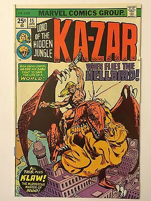 "KA-ZAR #15 (Apr 1976, Marvel Comics) ""WHEN SHATTERS THE GATEWAY TO HELL!"""