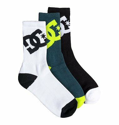 *brand New* Dc Shoes Athletic Socks (3 Pack, Boys Youth Us Size 6 - 8.5)