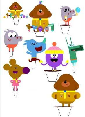 17 x Edible  Duggee Stand-Up Pre-Cut Wafer Paper Cup cake Toppers