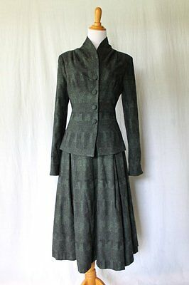 Vintage 1947 Wool Bar Suit New Look Suit Replica 3 pieces 0 34