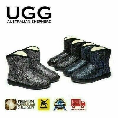 Clearance Sale UGG Ladies Short Boots - Australian Sheepskin Lining, Snowflake C