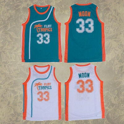 Jackie Moon Flint Tropical 33# Green White Basketball Jersey Adult Size