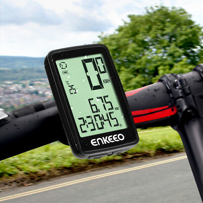 Wireless Cycling Bicycle Bike Cycle LED Computer Odometer Speedometer Time Meter