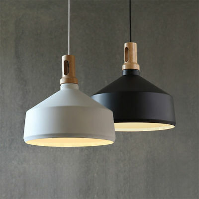 Contemporary Pendant Light Funnel Wooden Ceiling lighting Timber Lamp Chandelier