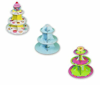 3 Tier Cardboard Cupcake Cake Muffin Stand Food Serving Birthday Wedding Party