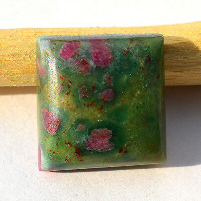 Natural Ruby in Fuchsite Cabochon, Designer Loose Cabochon 18x18x7 MM