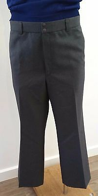 Mens Vintage 1980s Fletcher Jones Wool Blend GREY Business Suit Pants size 96cm