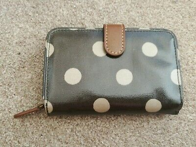 Cath Kidston Green Polka Dot Spot Folded Wallet Card Coin Purse
