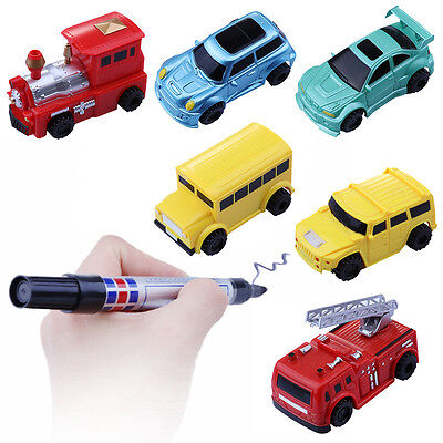 Good Include Battery Follow Any Drawn Line Magic Pen Inductive Toy Car Bus Model