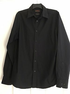 Ben Sherman Mens Long Sleeve Cotton Black Shirt - Size L. Great Condition