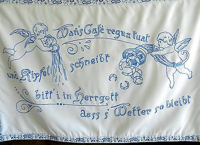 Wandbehang Origineller Spruch Engel Stickerei Handarbeit