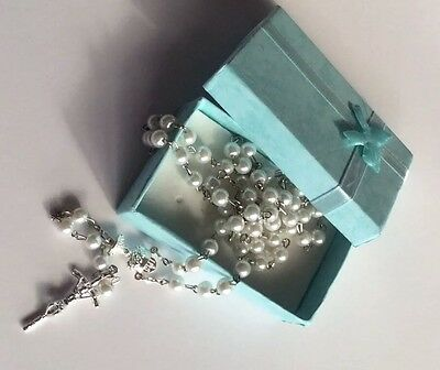 Mother Of Pearl Rosary - Gift Boxed