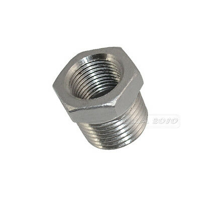 "1/2"" Male x 3/8"" Female Thread Reducer Bushing M/F Pipe Fitting SS 304 BSPT"