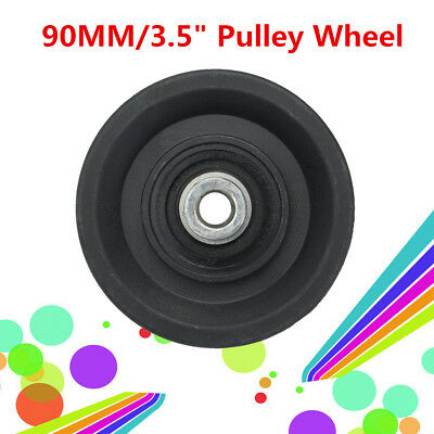 1-10X 90MM Nylon Bearing Pulley Wheel Cable Gym Fitness Equipment Part Universal