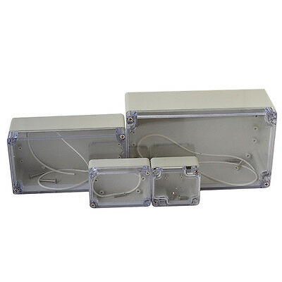 Waterproof Transparent Plastic Project Electronic Instrument Case Enclosure Box