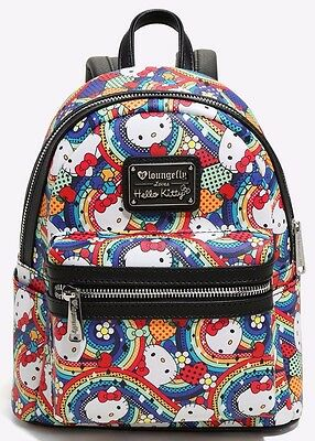 Sanrio Hello Kitty Rainbow Mini Backpack Loungefly New with Tags