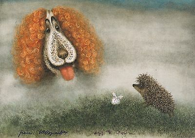 Hedgehog in the Fog Norstein's hand-signed  high quality print (Hedgehog & Dog)