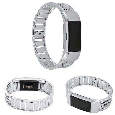 1Pcs Replacement Stainless Steel Bracelet Watch Band Strap For Fitbit Charge 2