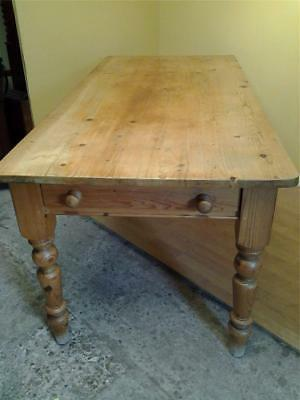 Rustic Victorian style pine farmhouse kitchen table 8 seater