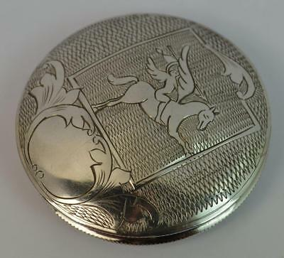 Pegasus Design Solid Silver Vintage Compact or Box