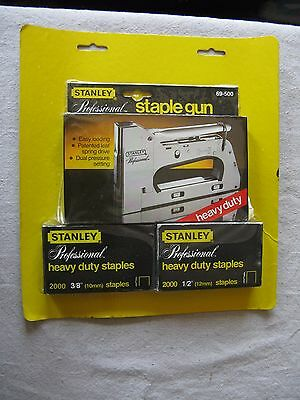 New VTG STANLEY HEAVY DUTY PROFESSIONAL STAPLE GUN 69-500 W 4000 Staples SWEDEN
