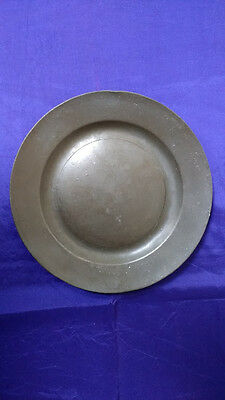 "17th Century Pewter Plate (9 5/16"")"