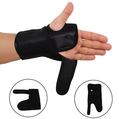 Black Wrist Brace Support Splint Fractures, Carpal Tunnel Sprain Pain
