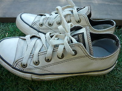 CONVERSE ALL STAR LEATHER shoes  AU4.5 / 23.5cm ~ Great condition