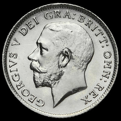 1916 George V Silver Sixpence, EF #2