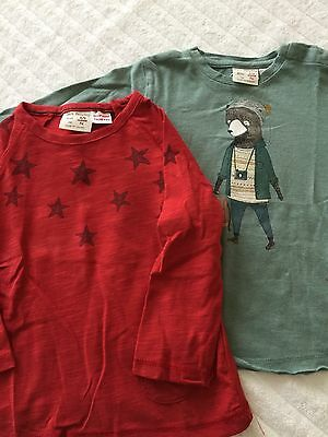 Two baby boy long sleeve tops aged 6-9 months