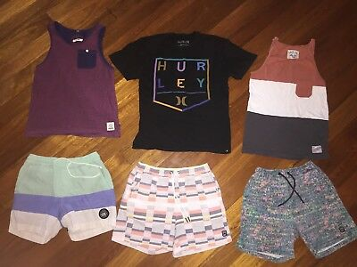 Boys Size 10 Bulk Lot Brand Names Hurley, Indie, Ripcirl