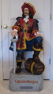 """Captain Morgan Statue Store Display 2006 Large 4' 2"""" Tall! Great Condition!"""