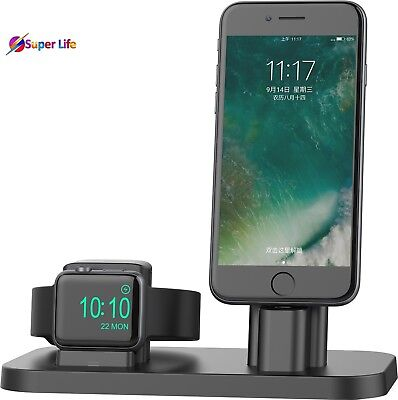 Apple Watch iPhone Charging Stand Dock Station Charger Holder Nightstand Mode