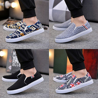 Men's driving shoes canvas shoes Breathable slip-on shoes fashion sneakers