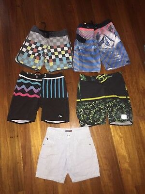 Boys Size 12 Board Shorts Bulk Lot Quicksilver And Volcom Surf Brands