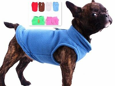 Dog Fleece Harness Vest Jumper Sweater Coat, Small Breed, Various Colours/Sizes