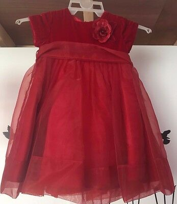 Girls elegant red dress for special occasions (age 2-3)